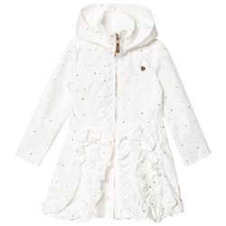 Le Chic Плащ Cream and Gold Ruffle Front Hooded Coat