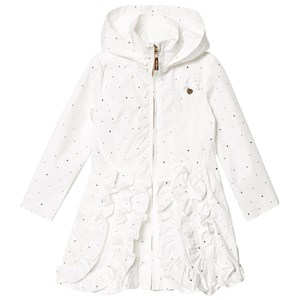 Image of Le Chic Cream Dotted and Ruffled Coat 128 (7-8 years) (1217602)