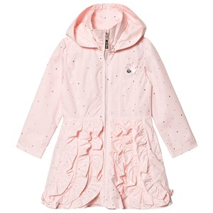 Image of Le Chic Pink and Gold Ruffle Front Hooded Coat 164 (13-14 years) (1217619)