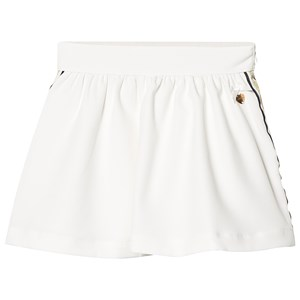 Image of Le Chic Cream Side Stripe and Glitter Skirt 110 (4-5 years) (1217713)