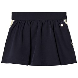 Le Chic Navy Side Stripe and Glitter Skirt