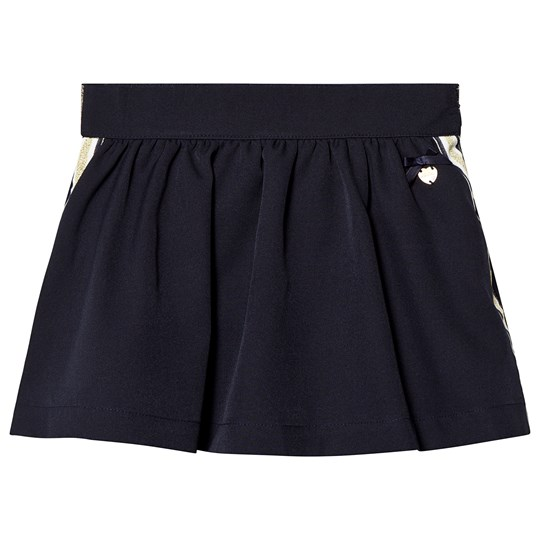 Le Chic Navy Side Stripe and Glitter Skirt 190