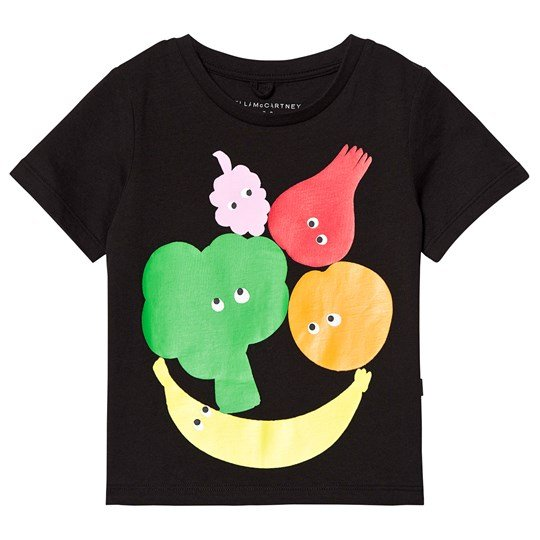 Stella McCartney Kids Black Fruit Print Tee 1073 - Black