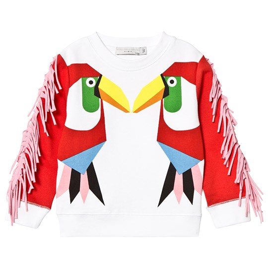 Stella McCartney Kids White and Red Kissing Toucans Sweatshirt 9082 - White