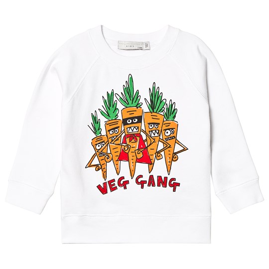 Stella McCartney Kids Veg Gang Tröja Vit 9082 - White
