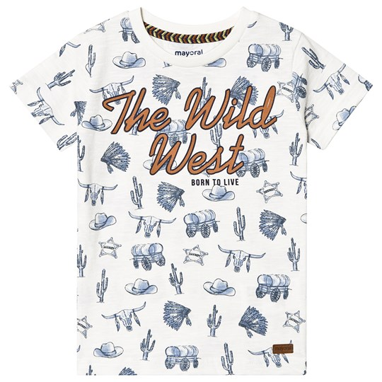 Mayoral White Wild West T-Shirt 64