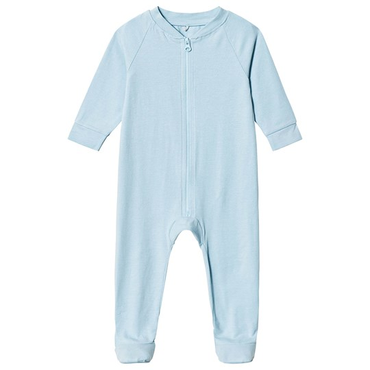 A Happy Brand Footed Baby Body Blue