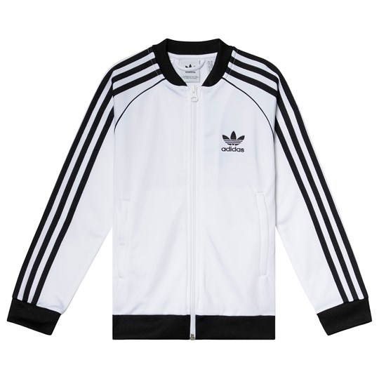 adidas Originals White Branded Track Jacket White/Black