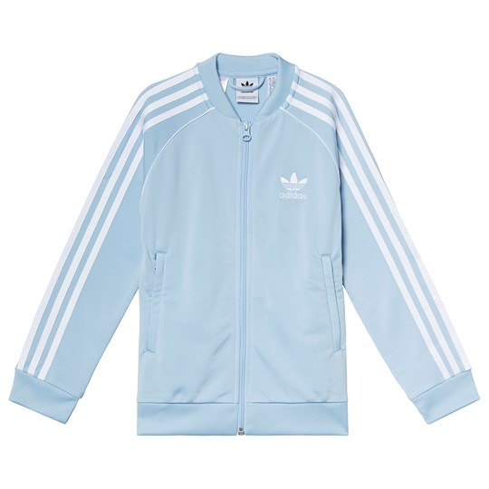 adidas Originals Light Blue Branded Track Jacket clear sky/white