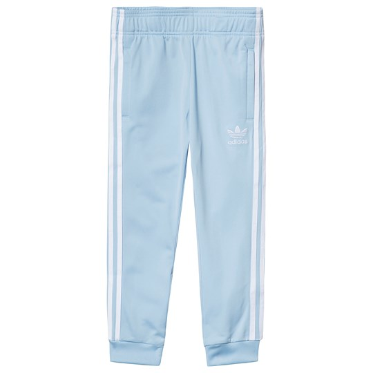 adidas Originals Light Blue Branded Trackpants clear sky/white