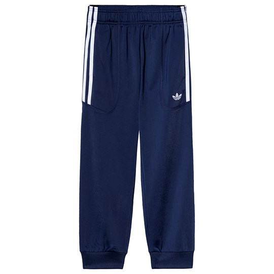 adidas Originals Navy Branded Sweatpants dark blue/white
