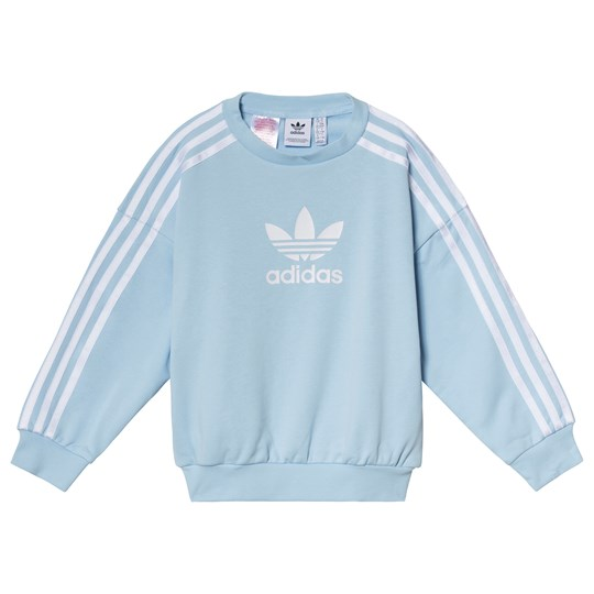 adidas Originals Light Blue Trefoil Logo Sweatshirt clear sky/white