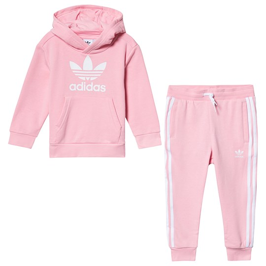 adidas Originals Light Pink Trefoil Tracksuit Top:light pink/white Bottom:LIGHT PINK/WHITE