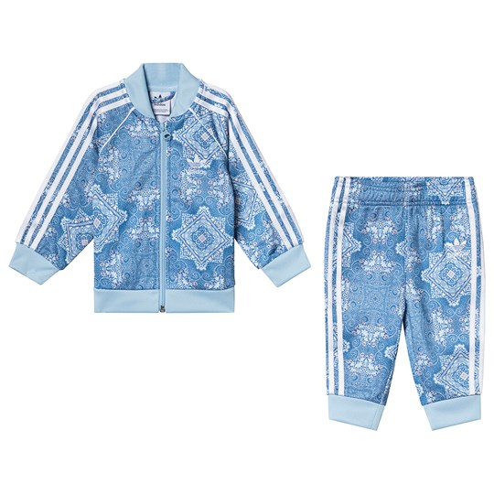 adidas Originals Blue Patterned Branded Tracksuit Top:MULTICOLOR/clear sky/white Bottom:MULTICOLOR/C