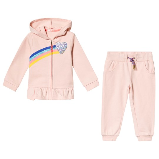 Billieblush Pink Tracksuit with Glitter Rainbow Detail 455