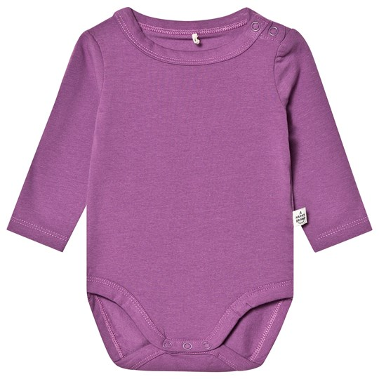 A Happy Brand Long Sleeve Baby Body Purple