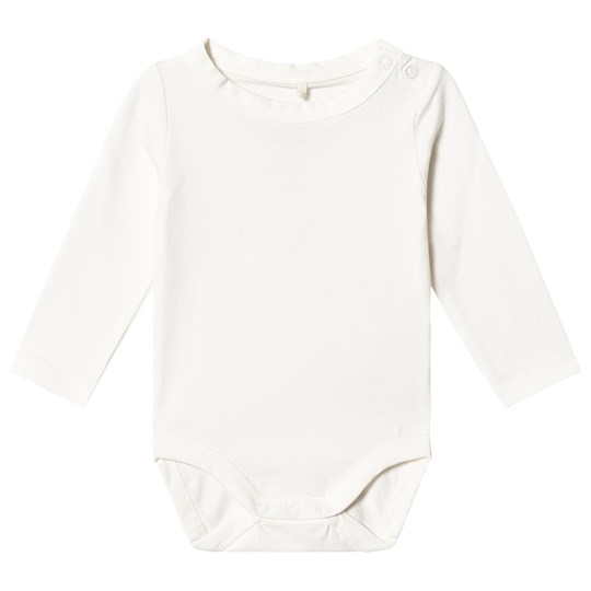A Happy Brand Long Sleeve Baby Body White