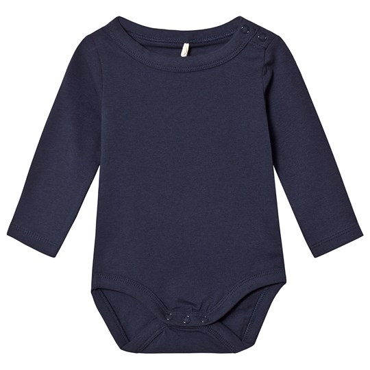 A Happy Brand Long Sleeve Baby Body Navy