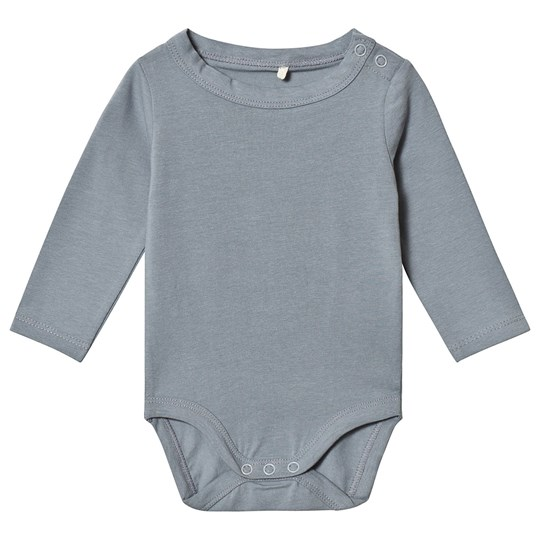 A Happy Brand Long Sleeve Baby Body Grey