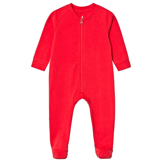 A Happy Brand Footed Baby Body Red