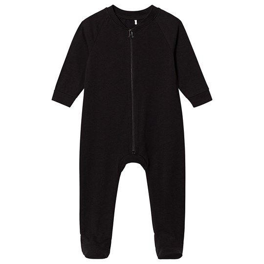 A Happy Brand Footed Baby Body Black