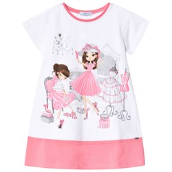 Mayoral Two Girls Shopping T-shirt Vit/Rosa