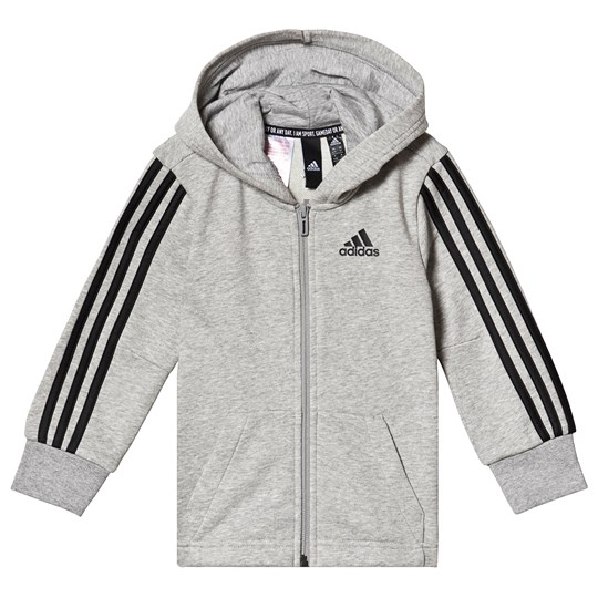 adidas Performance Худи Grey Branded Hoodie MEDIUM GREY HEATHER/BLACK