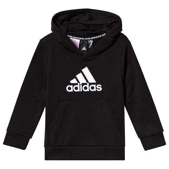 adidas Performance Black Logo Hoodie Black