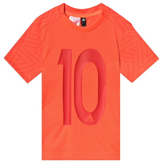 adidas Performance Red 10 Messi Tee SOLAR RED