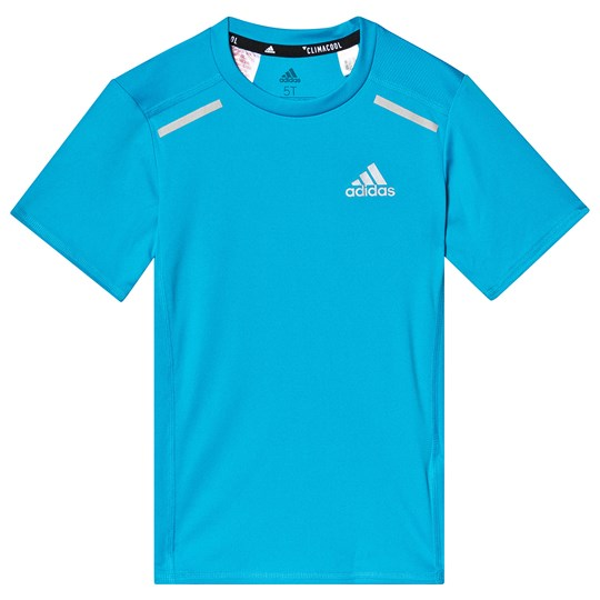 adidas Performance Blue Run Tee shock cyan