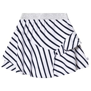 Image of Hootkid Navy and White Striped Tired Skirt 6 år (1244006)