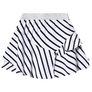 Image of Hootkid Navy and White Striped Tired Skirt 12 years (1244010)