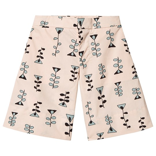 Marni Beige Patterned Shorts 0M312