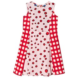 Marni Red and Pink Patterned Dress