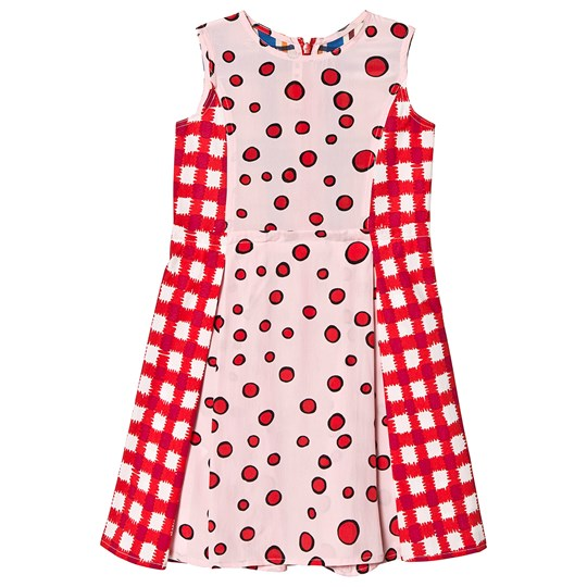 Marni Red and Pink Patterned Dress 0M313