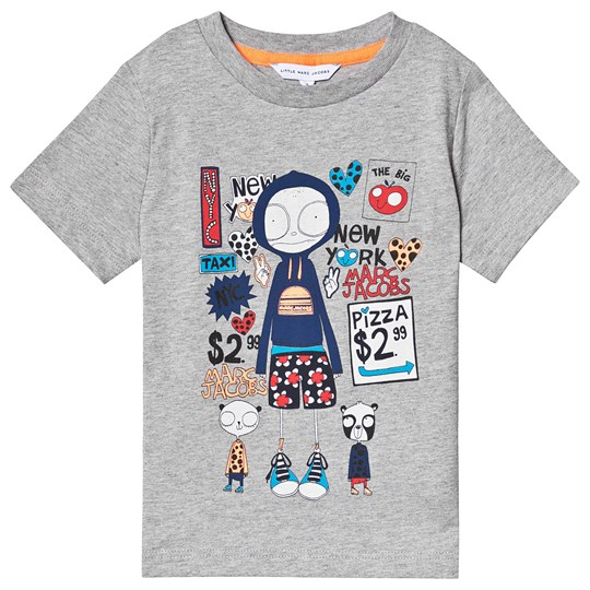 Little Marc Jacobs Grey Mr Marc NYC Print Tee A43