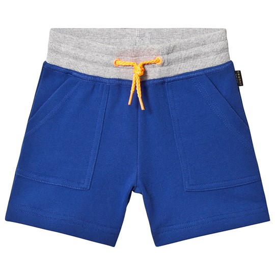 Little Marc Jacobs Blue and Grey Sweat Shorts with Back Pocket A43