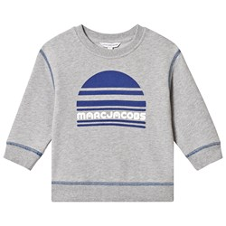 The Marc Jacobs Grey and Blue Marc Jacobs Sport Logo Sweatshirt