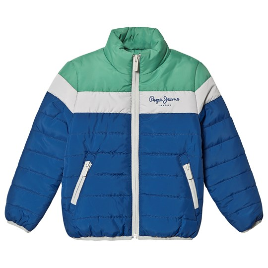 Pepe Jeans Blue and Green Jason Padded Jacket 565