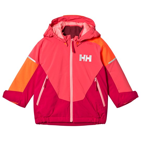 Helly Hansen Pink Colourblock Rider Insulated Kids Ski Jacket 197