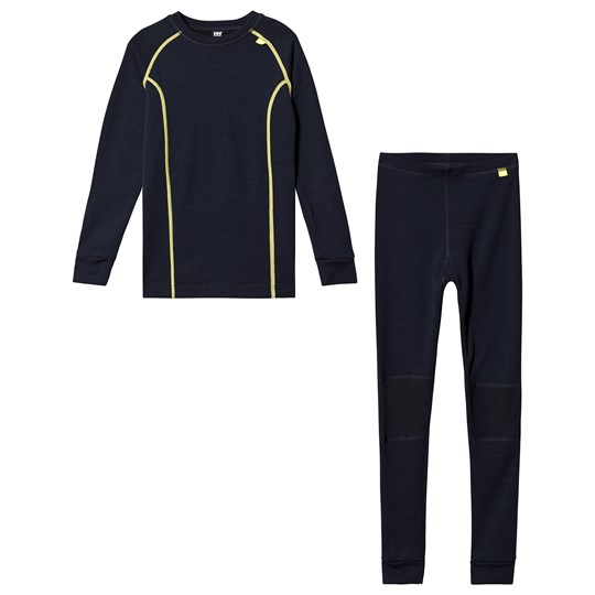 Helly Hansen Navy Colourblock Lifa Merino Baselayer Set 597