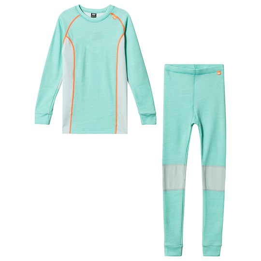 Helly Hansen Mint Green Colourblock Lifa Merino Baselayer Set 435