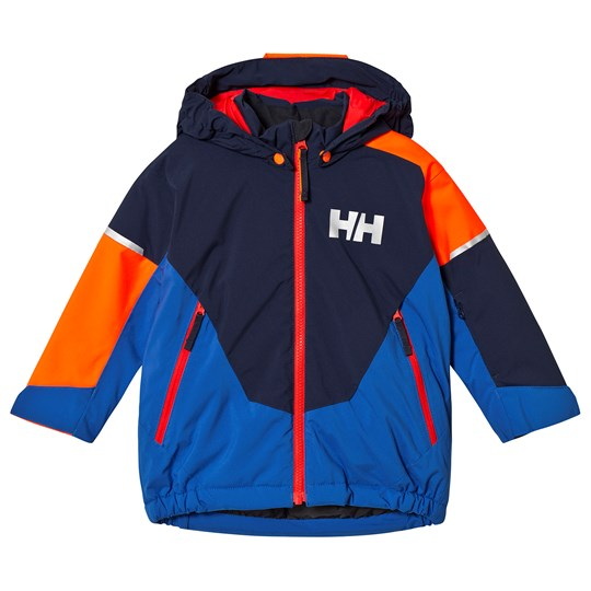 Helly Hansen Blue Colourblock Rider Insulated Kids Ski Jacket 690