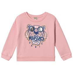 Kenzo Pale Pink Embroidered Sunglasses Tiger Sweatshirt