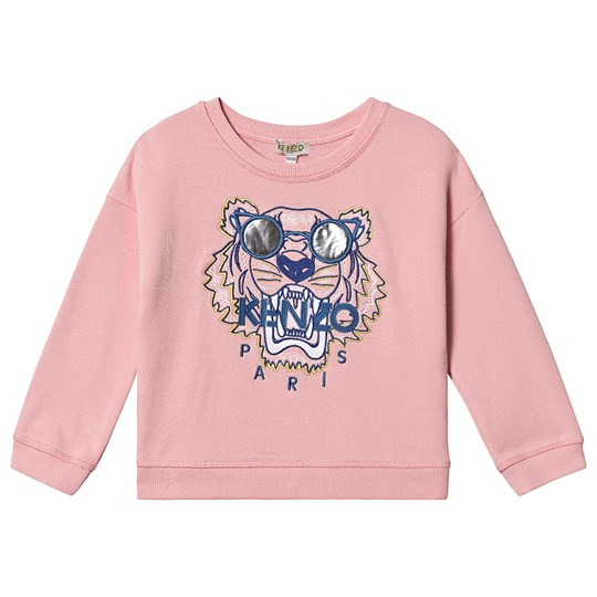 Kenzo Pale Pink Embroidered Sunglasses Tiger Sweatshirt 33