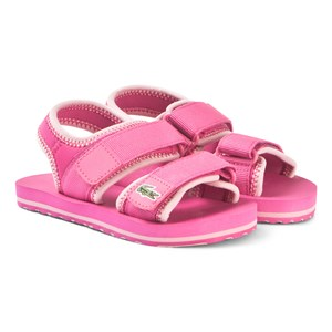 Image of Lacoste Hot Pink Velcro Strap Sandals 33 (UK 1) (3125230295)
