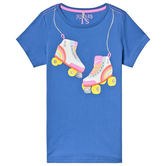 Joules Blue Rollerskates Applique Top Blue Rollerskates