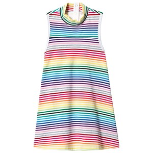 Image of Hootkid Rainbow Stripe Sleeveless Trapeze Dress 8 years (1243897)