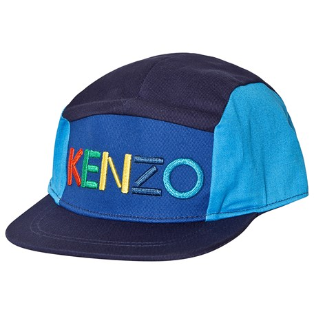 02d01159815 Kenzo Navy and Blue Logo 5 Panel Cap 49