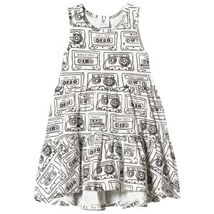 Image of Hootkid Cassette Print Tiered Dress 6 years (1244180)